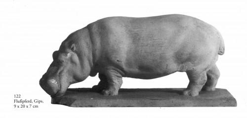 Bronze Hippopotamus By Josef Pallenberg (1882-1946) -