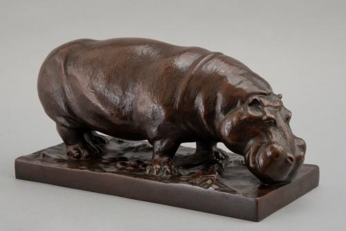 20th century - Bronze Hippopotamus By Josef Pallenberg (1882-1946)