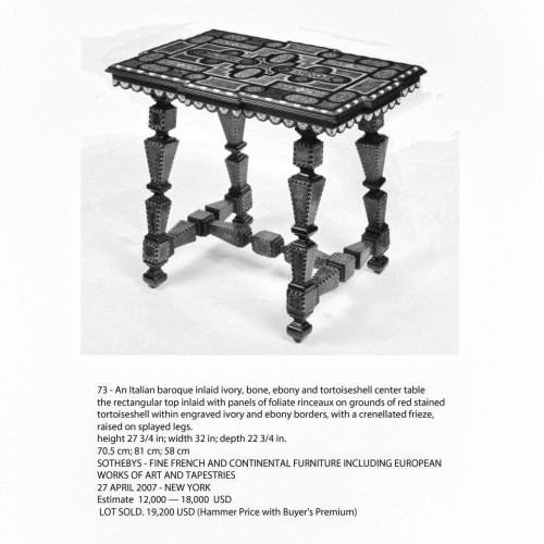 An italian or spaanish center table of the late 19th century -