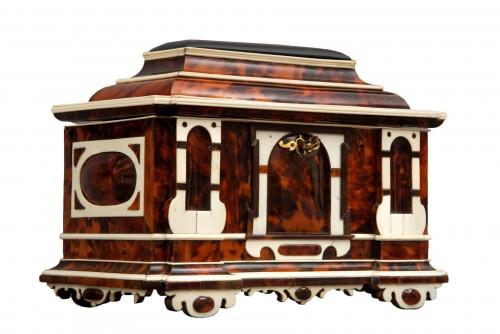 A rare  Augsburg Jewelry casket