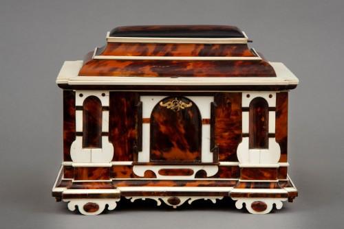 Furniture  - A rare  Augsburg Jewelry casket