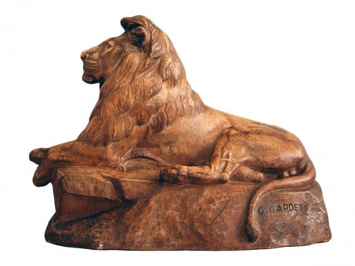 Georges GARDET (1863-1939) - Lion of the Atlas