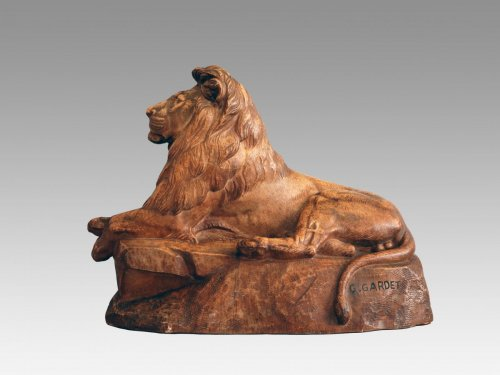 Georges GARDET (1863-1939) - Lion de l'Atlas - Sculpture Style