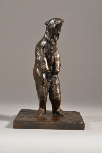 Guido RIGHETTI (1875-1958) - Petit ours polaire debout - Sculpture Style