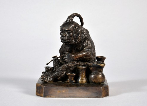 Christophe FRATIN (1801-1864) - Singe chinois - Sculpture Style