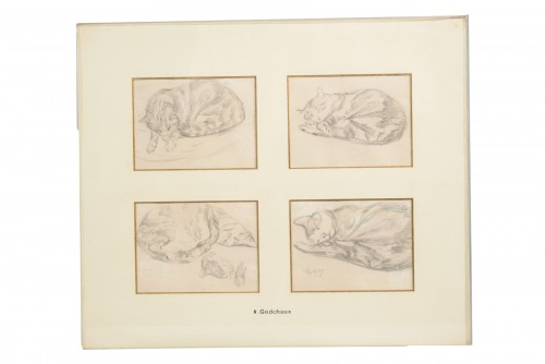 Set of four drawings - Roger GODCHAUX (1878-1958)