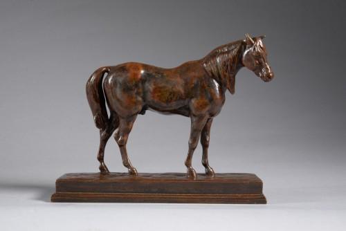 Antoine-Louis BARYE (1795-1875) - Half blood horse head up (reduction) - Sculpture Style