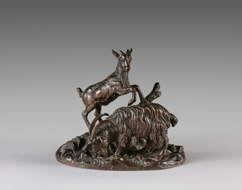 Goat and kid (around 1835) - Antoine-Louis BARYE (1795-1875) - Sculpture Style