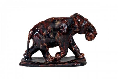 Running elephant - Roger GODCHAUX (1878-1958)