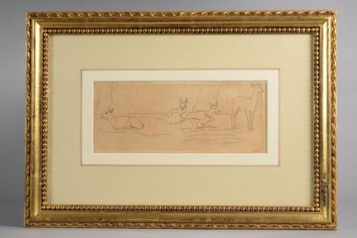 Braces and diapers - Antoine-Louis BARYE (1795-1875) - Paintings & Drawings Style