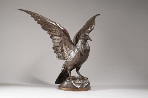 The carrier pigeon (small size) - Frédéric-Auguste BARTHOLDI (1834-1904) - Sculpture Style