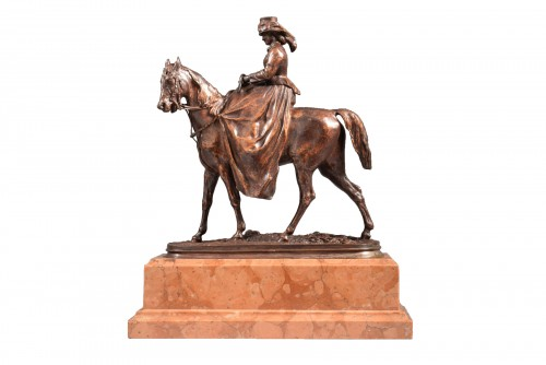 Amazon Salon of 1865 (wax), Salon of 1866 (bronze). - Pierre-Jules MÊNE (1810-1879)