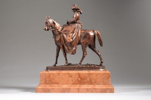 Amazon Salon of 1865 (wax), Salon of 1866 (bronze). - Pierre-Jules MÊNE (1810-1879) - Sculpture Style