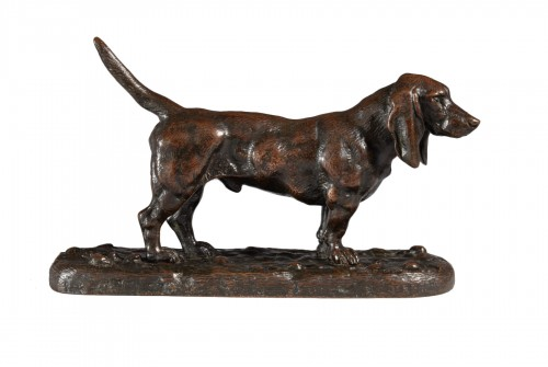 English basset hound n°2 - Antoine-Louis BARYE (1795-1875)