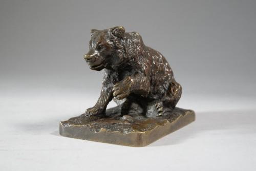 Little sitting bear (before 1849) - Christophe FRATIN (1801-1864) - Sculpture Style