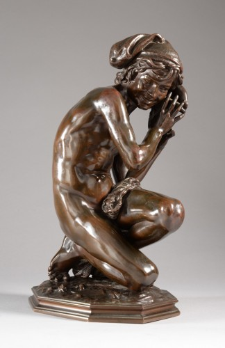Fisherman with a shell n°3 (1857) - Jean-Baptiste CARPEAUX (1827-1875) - Sculpture Style