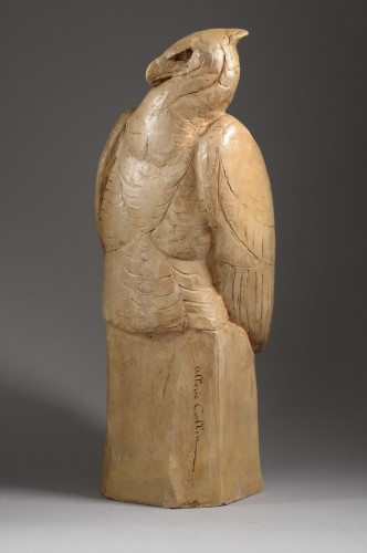 Eagle on a rock (1932) - Albéric COLLIN (1886-1962) - Sculpture Style