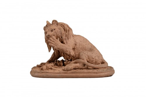 Lion licking its paw - Christophe FRATIN (1801-1864)