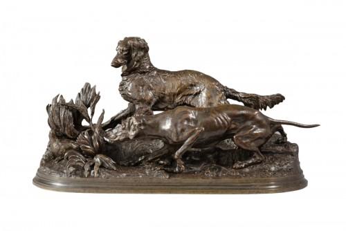 Partridge hunting (1847) - Pierre-Jules MÊNE (1810-1879)