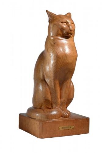 Sitting cat - Eugène Antoine BORGA (1885-1964)