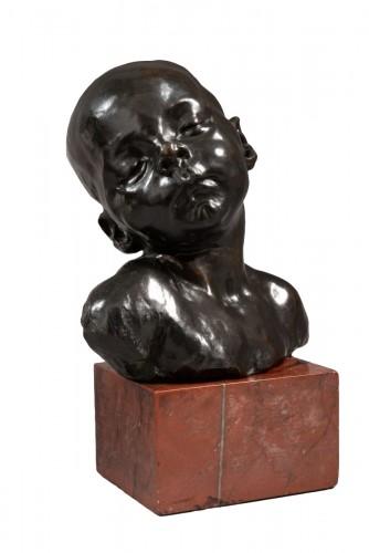 Bust of a sleeping baby - Aimé-Jules DALOU (1838-1902)