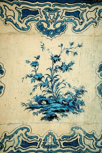 18th century - A blue and white painted piedmontese commode, Piedmont ca. 1750