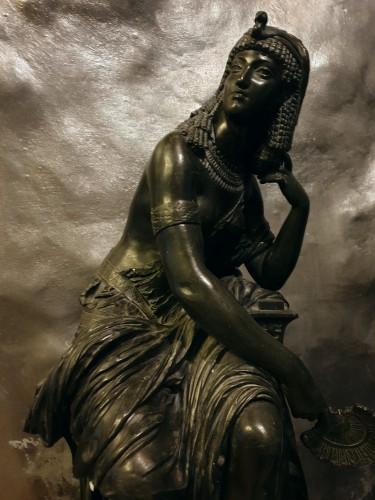 Large Bronze Statue Of Cleopatra , Attr. Mathurin Moreau (1822 - 1912) -
