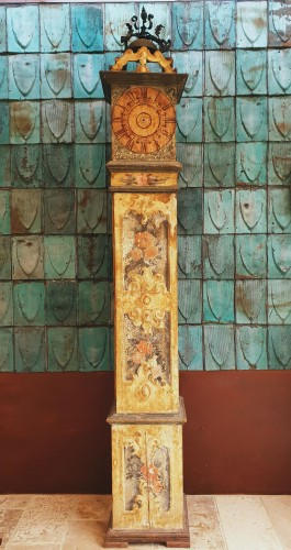 Large 17th Century Painted Parquet Horologe, Italy / Marche