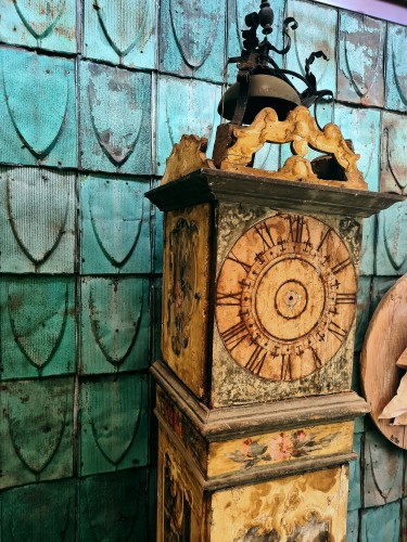 Large 17th Century Painted Parquet Horologe, Italy / Marche -