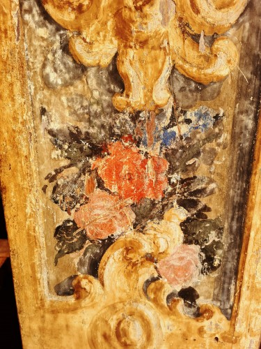 Louis XIII - Large 17th Century Painted Parquet Horologe, Italy / Marche