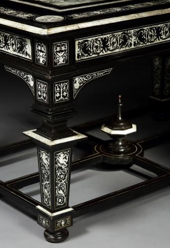 Furniture  - Large Center Table attributed to Ferdinando Pogliani (milan 1832-1899), Circa 1870
