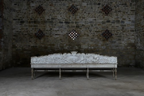 Restauration - Charles X - Pair of benches from Villa Suvera in Siena, Toskana dated 1847