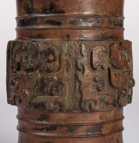 11th to 15th century - A Zun bronze vase, Dynasty Song/Ming