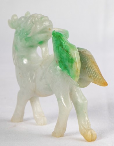 A Natural Jadeite Qilin - Asian Works of Art Style