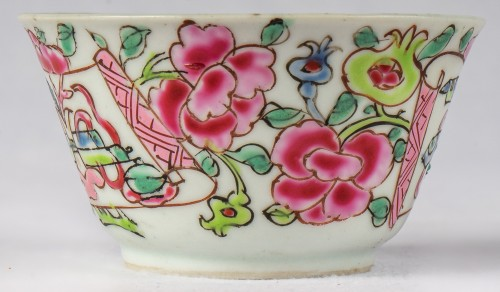 Asian Works of Art  - 6 Famille rose half-eggshell cups and saucers, Yongzheng period