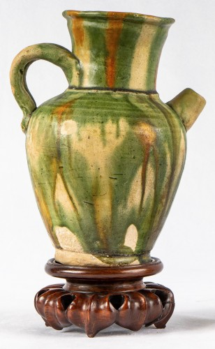 A 3 color glazed Terracotta Jug and Cup, Tang Dynasty - Asian Works of Art Style
