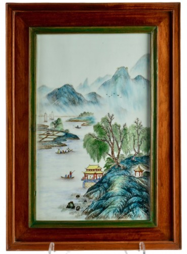 A collection of Chinese porcelain plaques, Qing Dynasty and Republic period