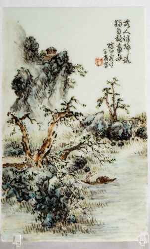 A collection of Chinese porcelain plaques, Qing Dynasty and Republic period -