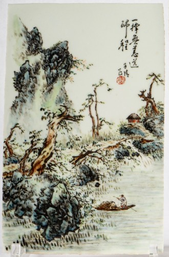 - A collection of Chinese porcelain plaques, Qing Dynasty and Republic period