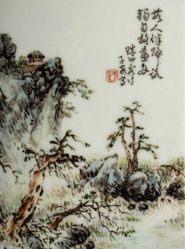 Antiquités - A collection of Chinese porcelain plaques, Qing Dynasty and Republic period