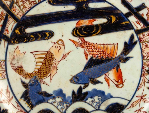 A Japanese Imari style Carp dish, circa 1700 - Asian Works of Art Style