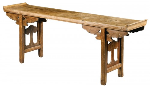 A large Chinese scholar hardwood table, 17th century