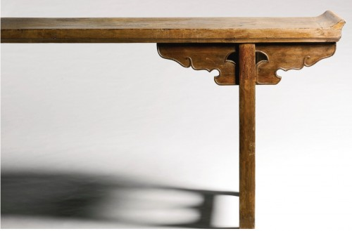 A large Chinese scholar hardwood table, 17th century - Asian Works of Art Style