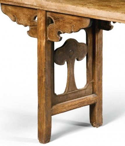 Asian Works of Art  - A large Chinese scholar hardwood table, 17th century