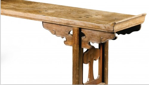 A large Chinese scholar hardwood table, 17th century -