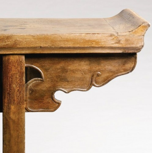 - A large Chinese scholar hardwood table, 17th century