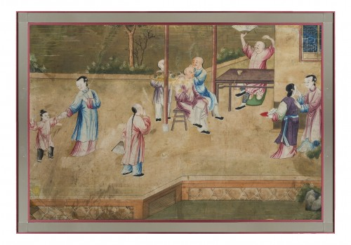 A chinese export watercolor, 18th century