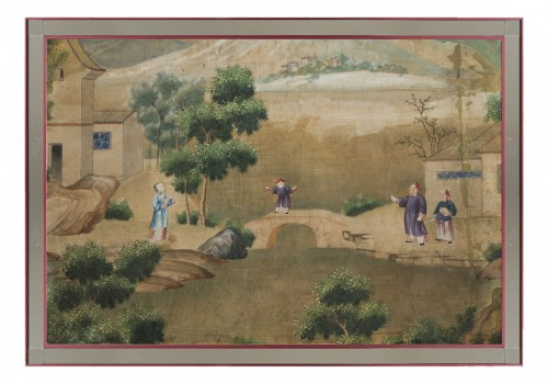 Asian Art & Antiques  - A pair of chinese for export watercolors, 18th century