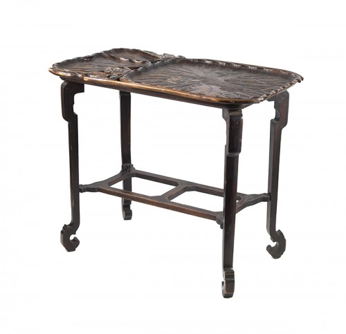 Japanese style center table, attributed to Gabriel Viardot