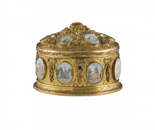 Late 19th century jewelry box signed Tahan Paris